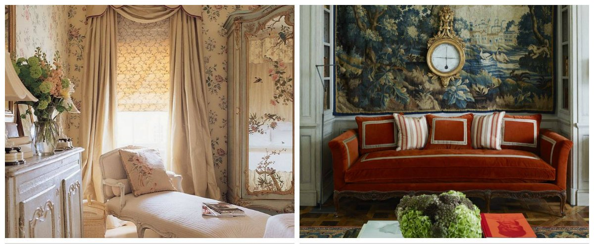 vintage interior design, stylish textiles in vintage interior design