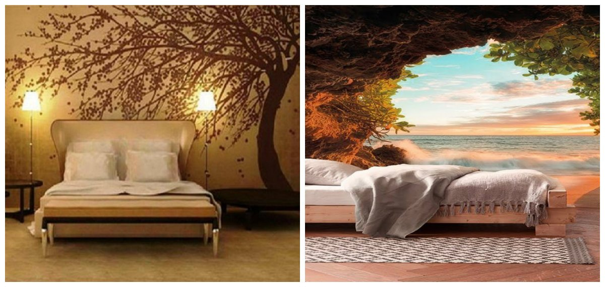 wall design ideas, wall design ideas with photo wallpaper