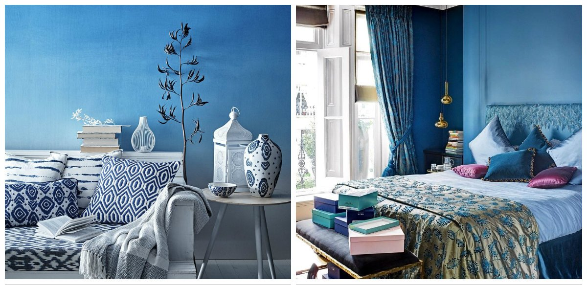 Moroccan interior design, blue color in Moroccan interior design