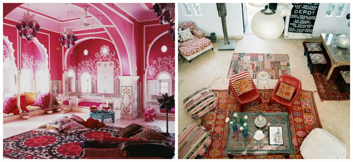 Moroccan interior design, carpets in Moroccan interior design