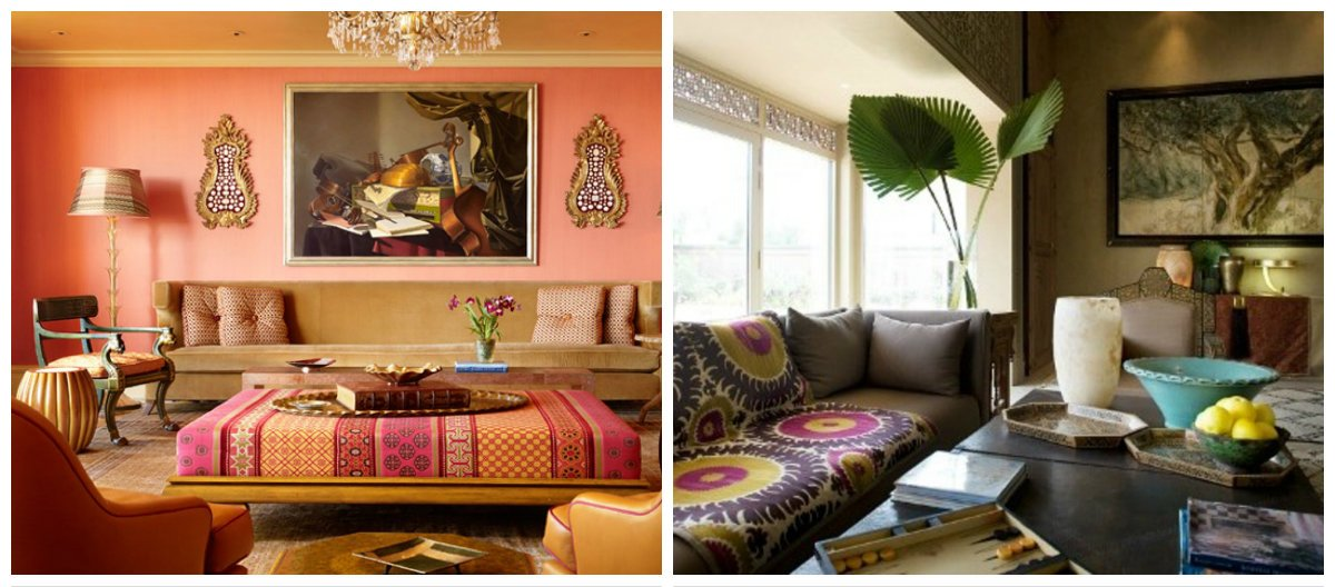 Moroccan interior design, colors in Moroccan interior design