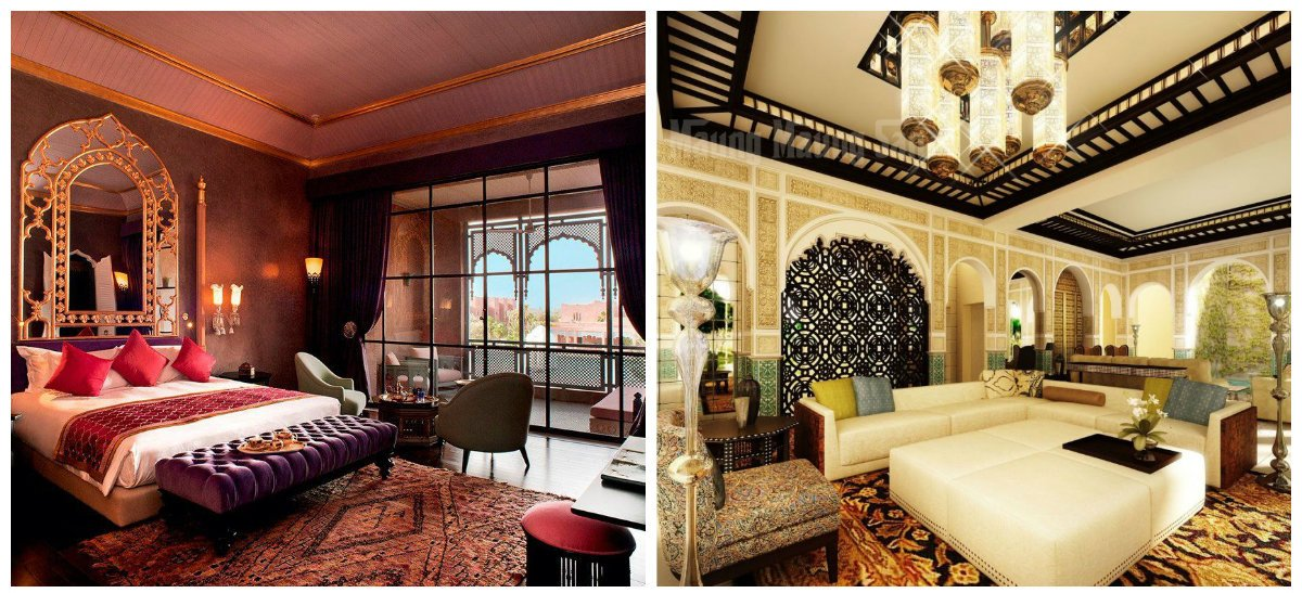 Moroccan interior design, materials in Moroccan interior design