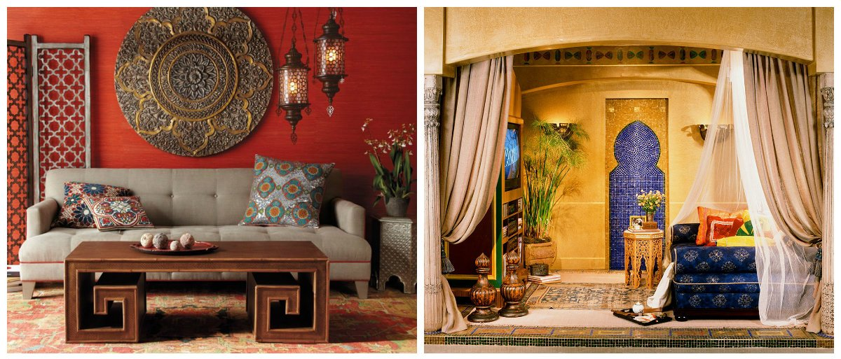 Moroccan interior design, red color, yellow color in Moroccan interior design