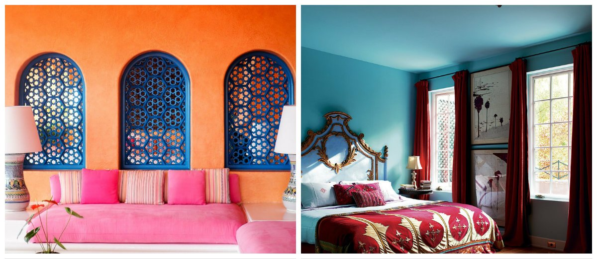 Moroccan interior design, wall design in Moroccan interior