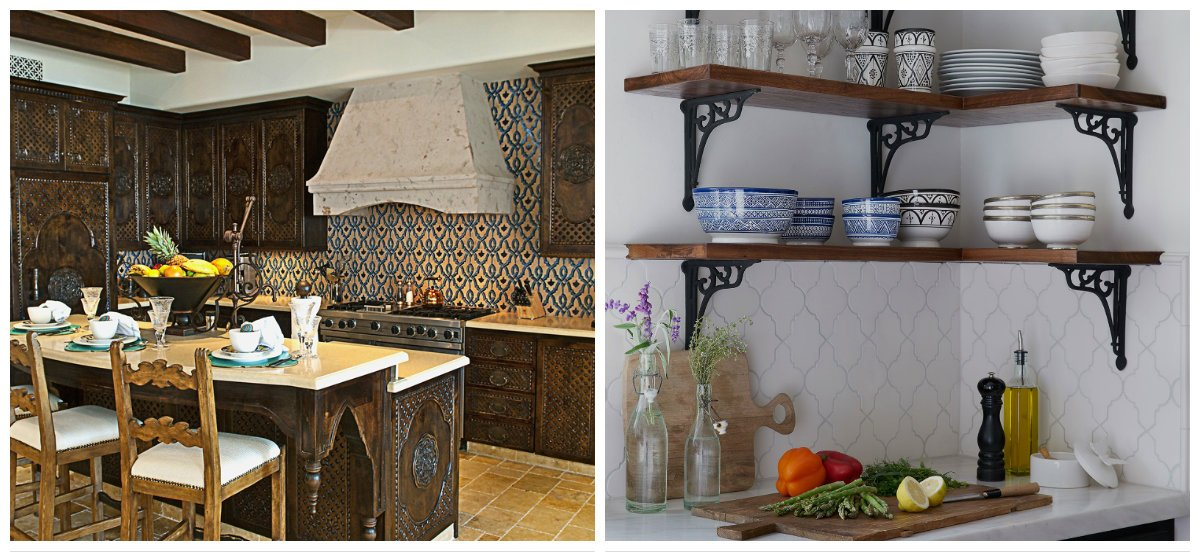 Moroccan kitchen, Moroccan kitchen decor, furniture in Moroccan style