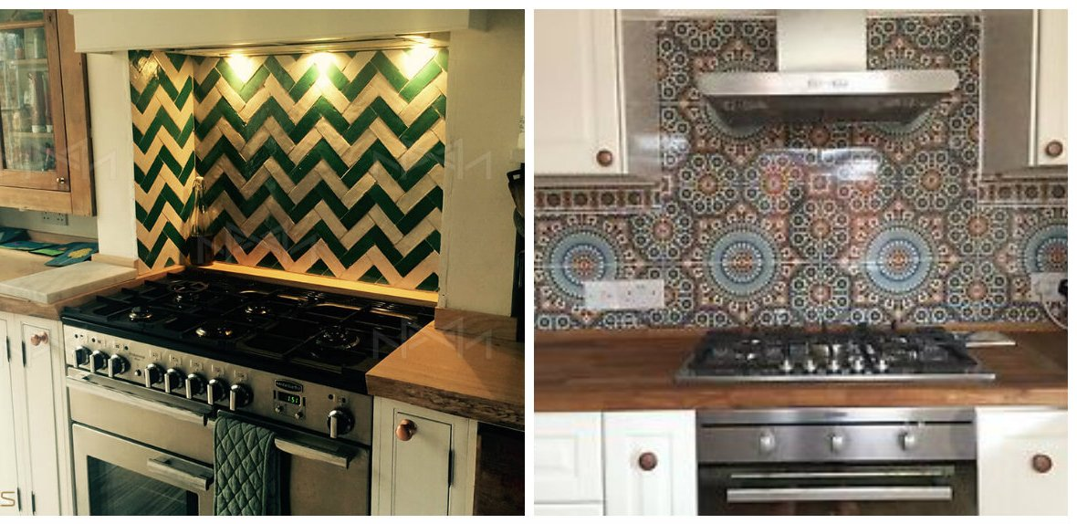 Moroccan kitchen, Moroccan kitchen decor, zellige tiles in Moroccan kitchen