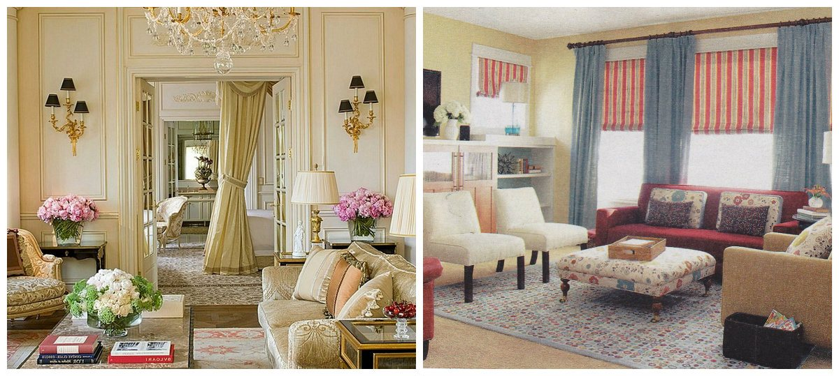 country decorating ideas, fashionable curtains in country style