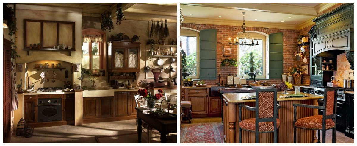 country decorating ideas, ceiling and wall design in country style