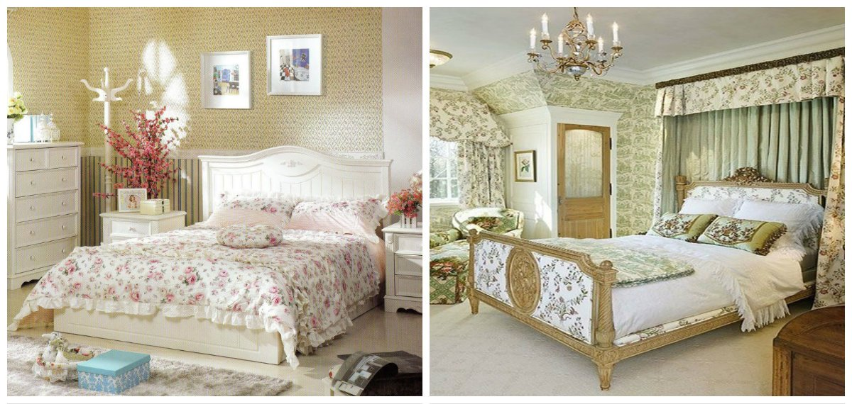 country interior design, bedroom in country interior style