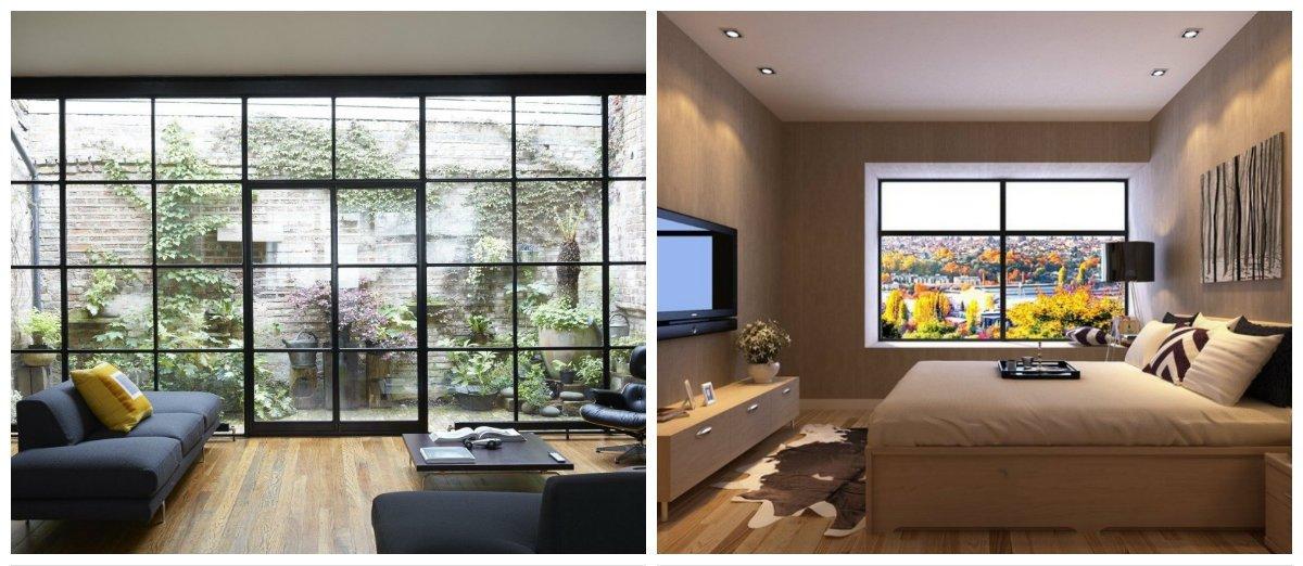 eco interior design ideas, panoramic widows in eco interior design