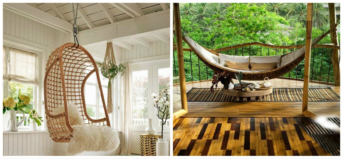 eco interior design ideas, rattan and banboo in eco interior design