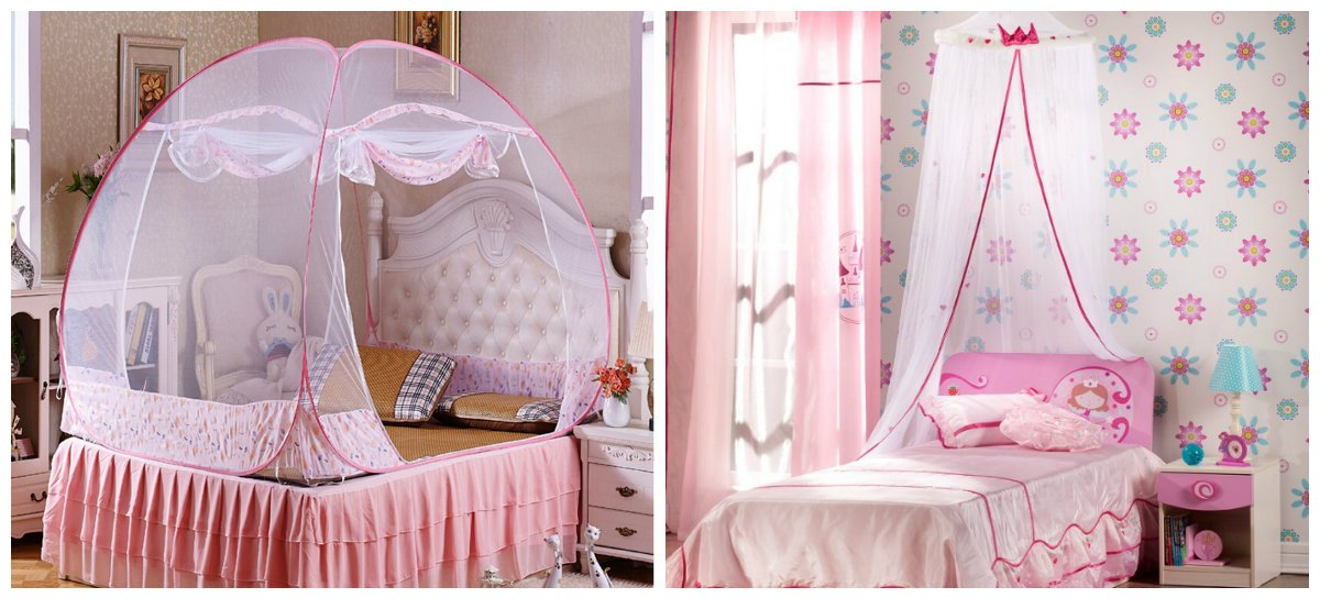 girls bedroom decor, baldachin and canopy in girls bedroom design