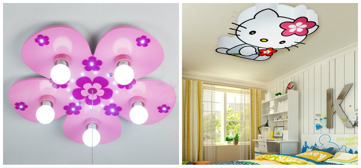 girls bedroom decor, ceiling lighting design ideas in girls bedroom