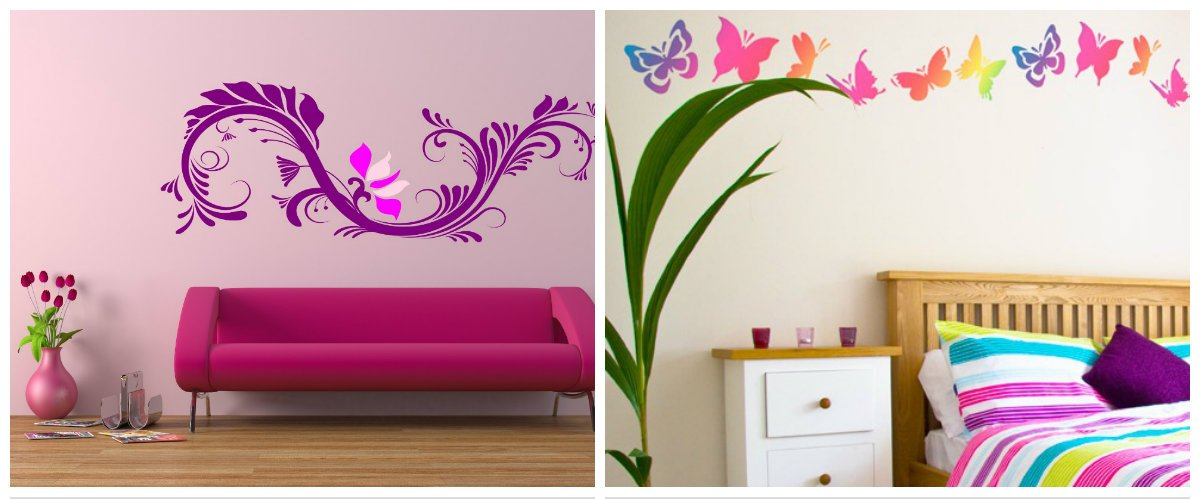 girls bedroom decor, wall design in girls bedroom interior