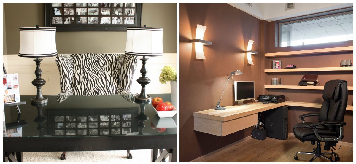 home office ideas, fashionable lamps in home office design ideas