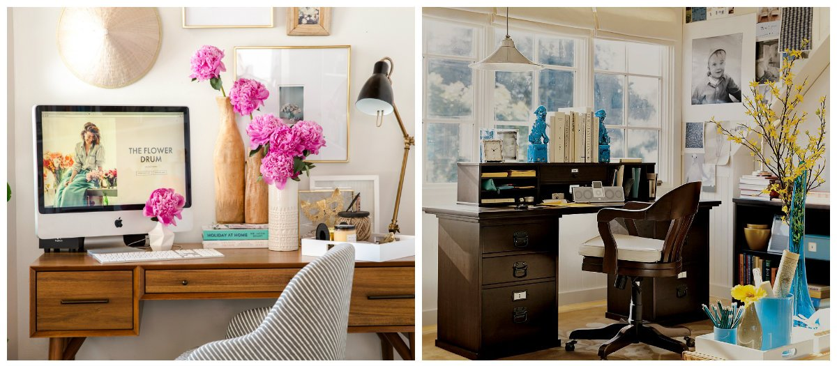 home office ideas, vases in home office interior design