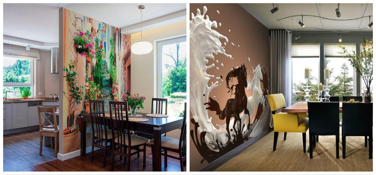 kitchen renovation ideas, photo wallpaper design in kitchen design trends