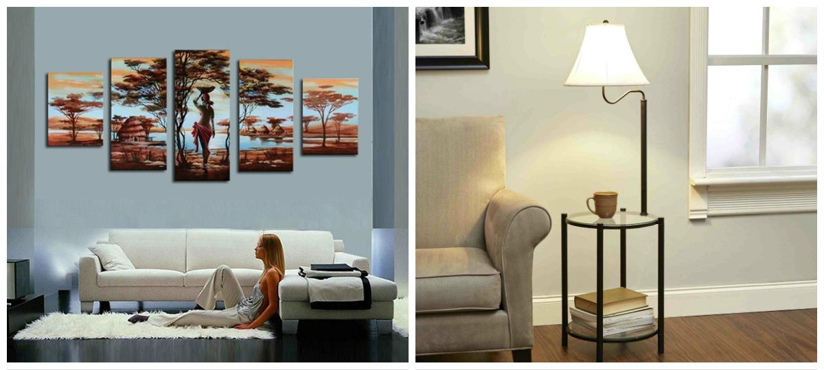modern country decor, lamps in country style, painting in country design trends