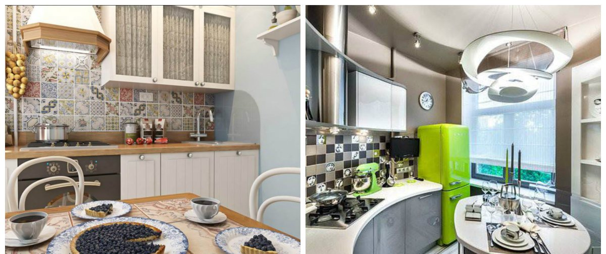 modern kitchen design 2019, hi-tech style, Provence style
