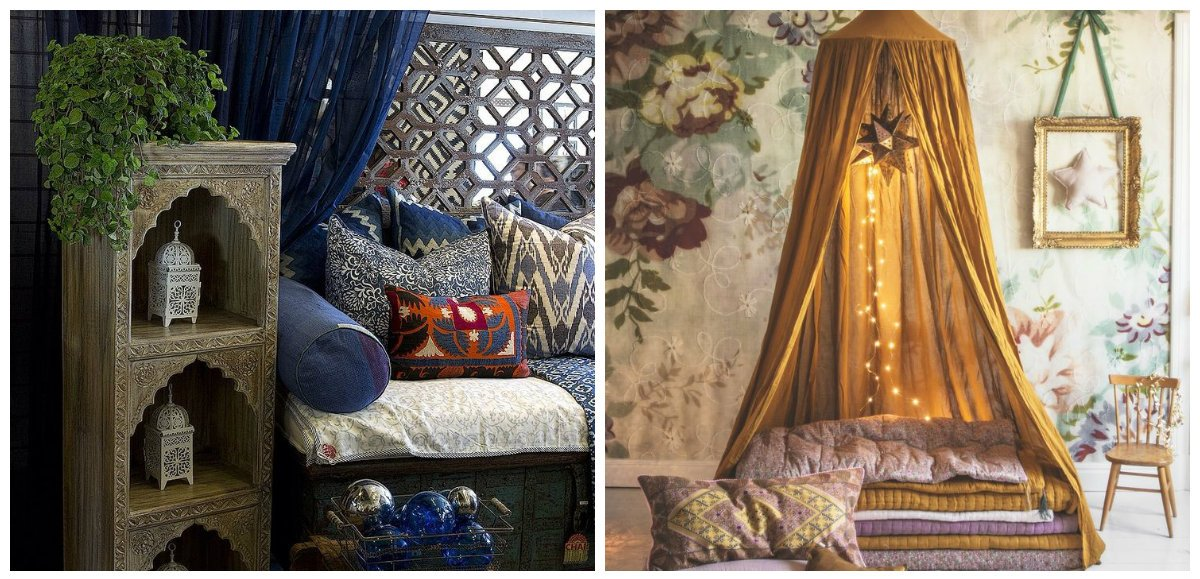 Moroccan home decor, accessories in Moroccan style