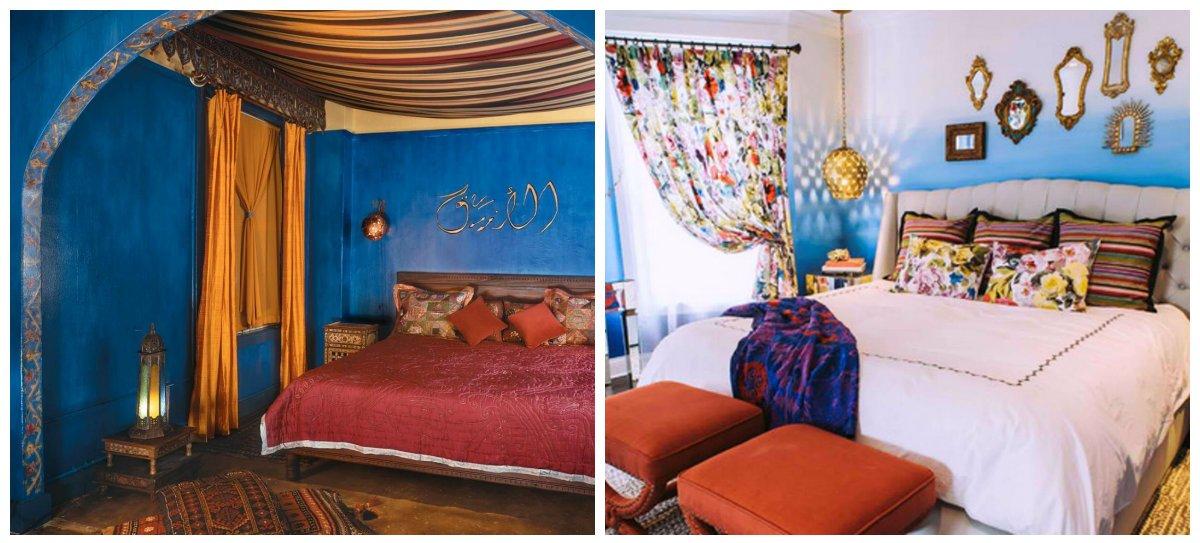 Moroccan home decor, trendy colors in Moroccan interior design