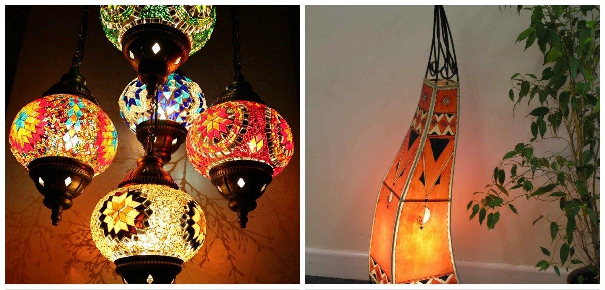 Moroccan home decor, lighting ideas in Moroccan home decor