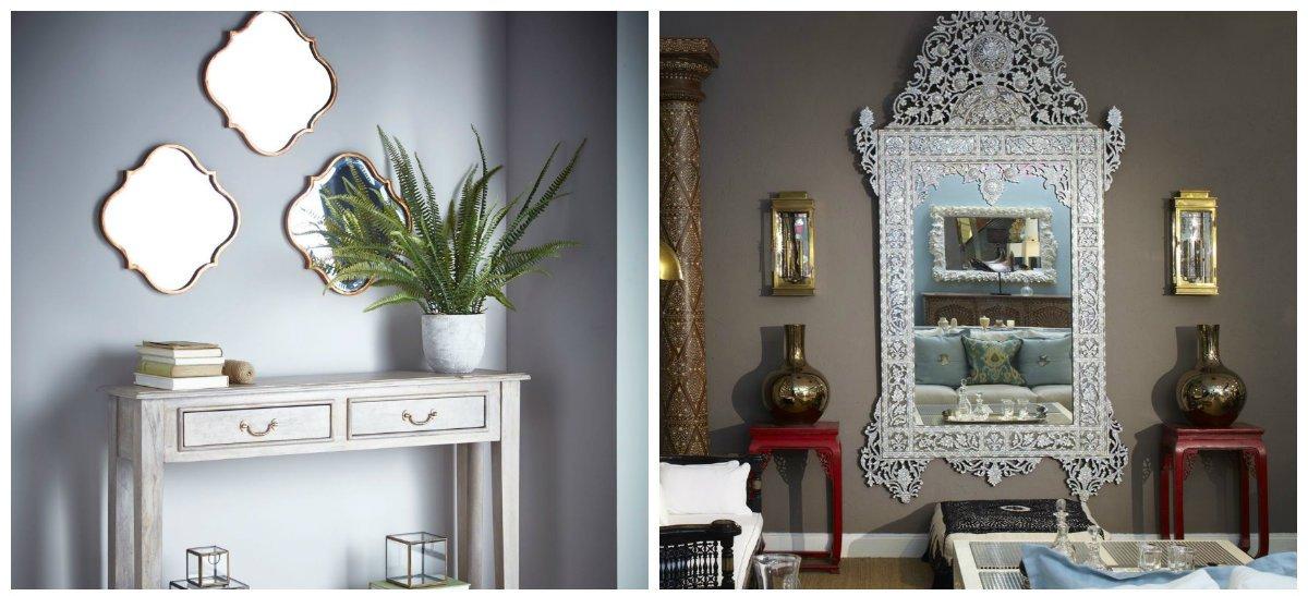 Moroccan home decor, mirrors in Moroccan home decor