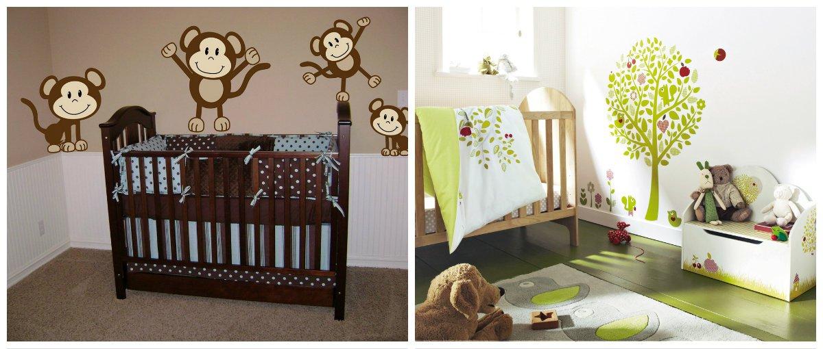 baby boy room ideas, wall design in baby boy room interior design