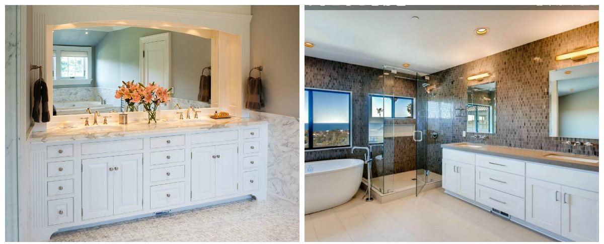 bathroom renovations 2019, fashionable bathroom cabinets