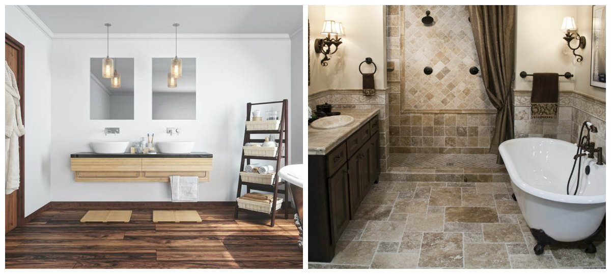bathroom renovations 2019, floor design in bathroom renovations 2019