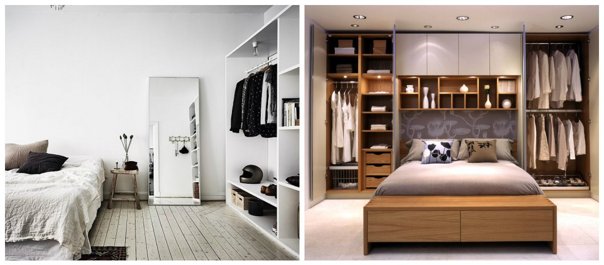bedroom interior design 2019, stylish bedroom with wardrobe
