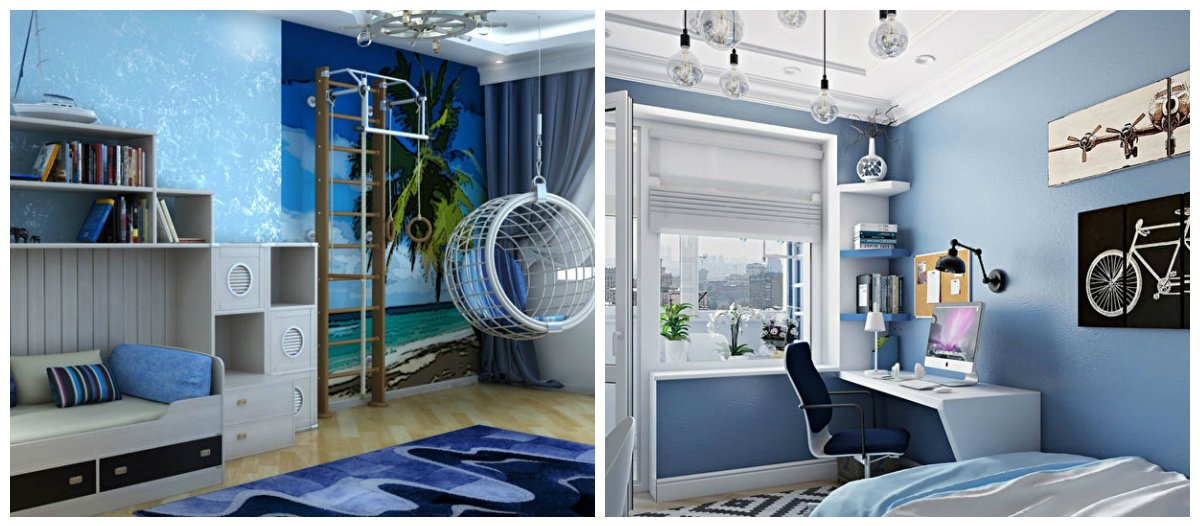 boys bedroom ideas, blue bedroom in boys bedroom design ideas