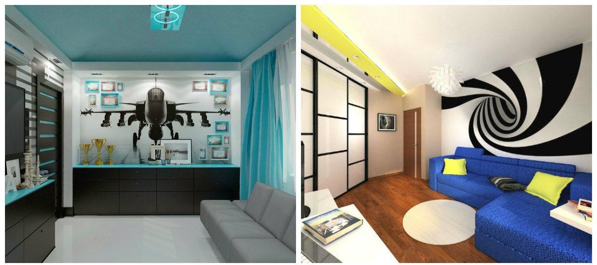 boys bedroom wallpaper, hi-tech style wallpaper in boys bedroom design