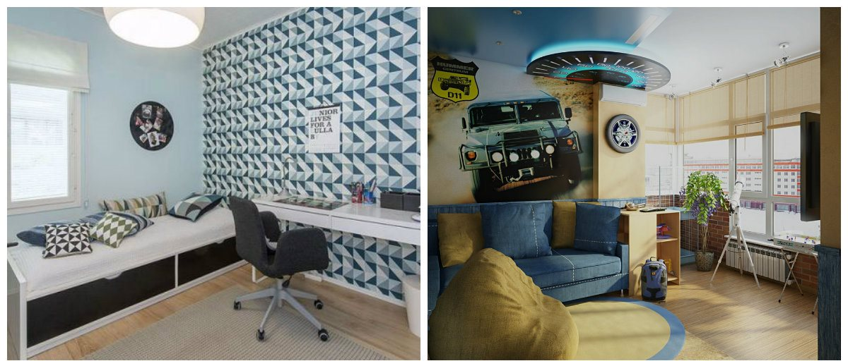 Boys Bedroom Wallpaper, Paper Wallpaper In Boys Bedroom Design