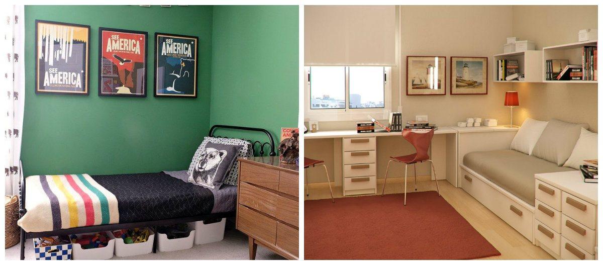 boys bedroom wallpaper, single-tone wallpaper in boys bedroom