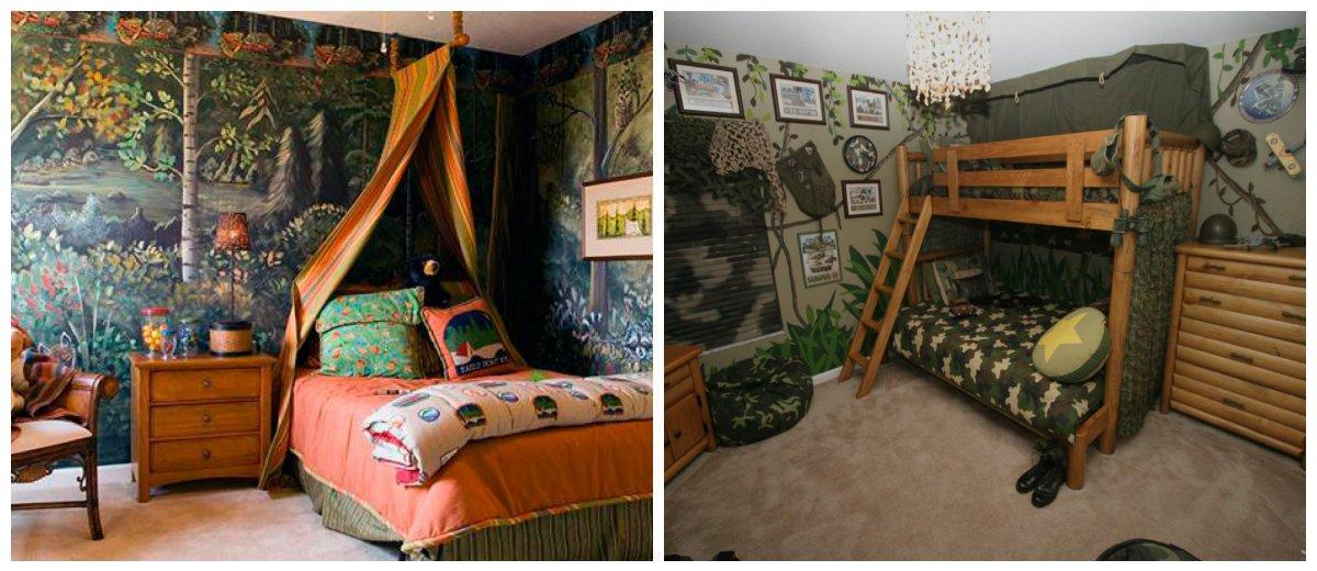 boys room design, nature theme in boys room interior design