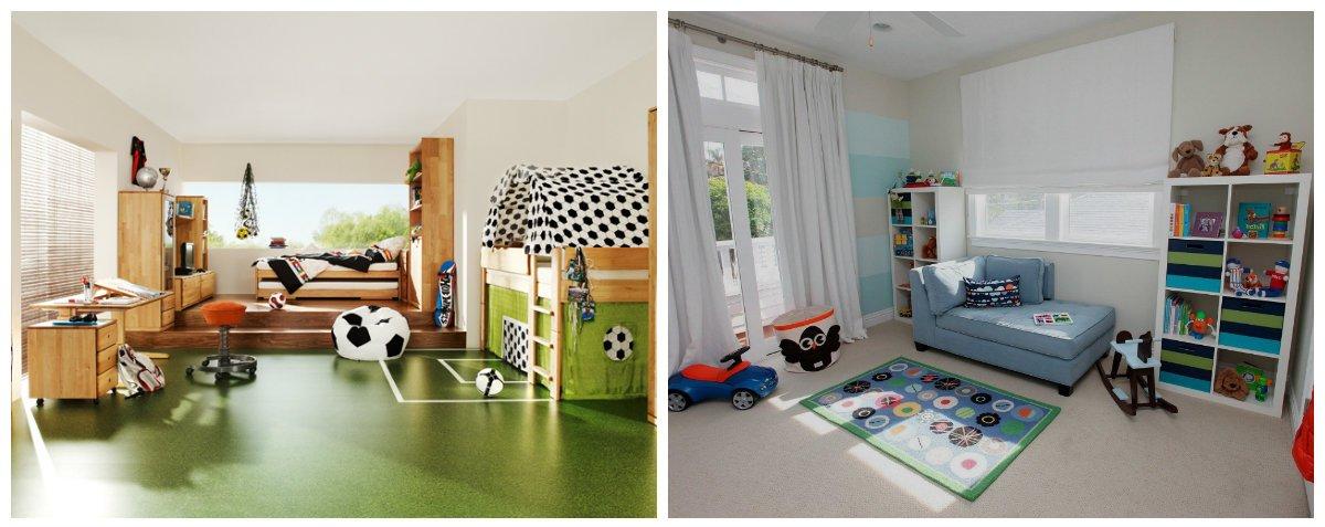 boys room design, sports corner in boys room interior design