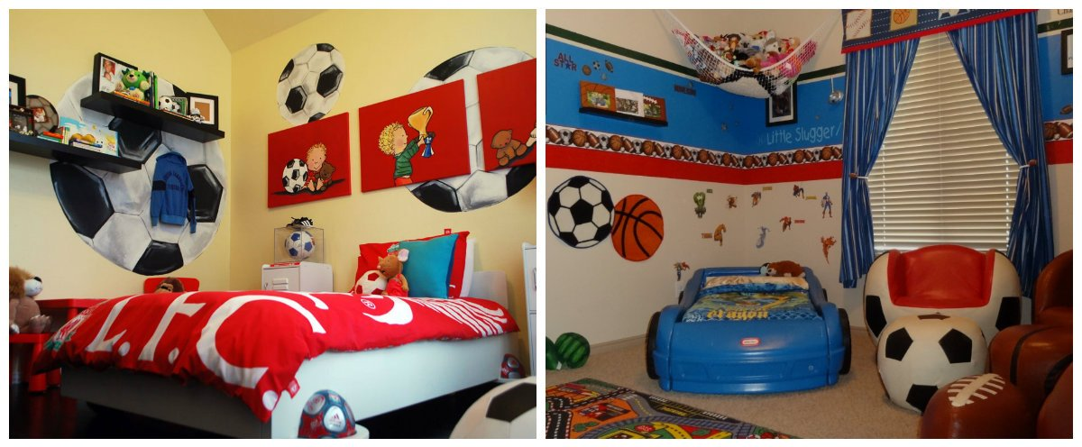 boys room design, sports theme in boys room interior design