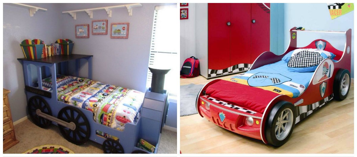boys room design, plain bed, car bed in boys room interior design