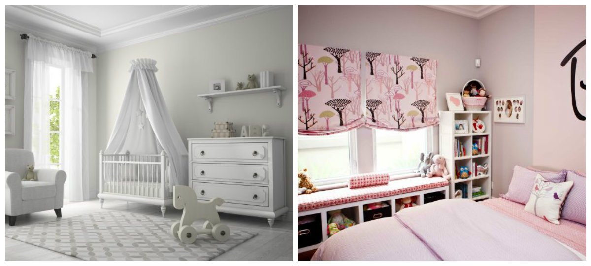 children room design, curtains design in children room interior design