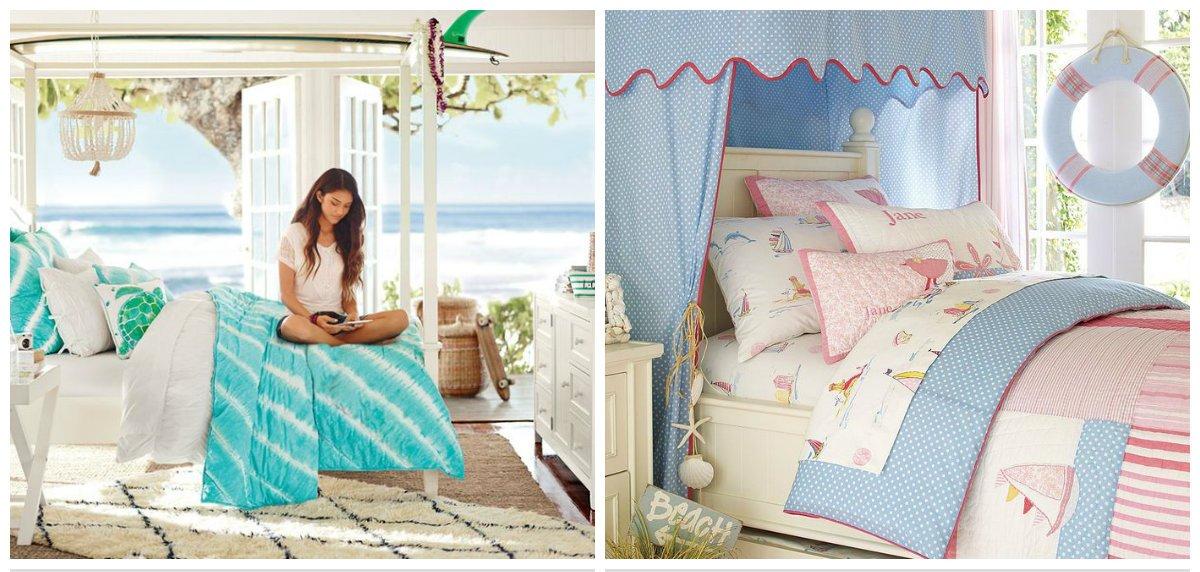girls bedroom ideas, marine style girls bedroom design ideas