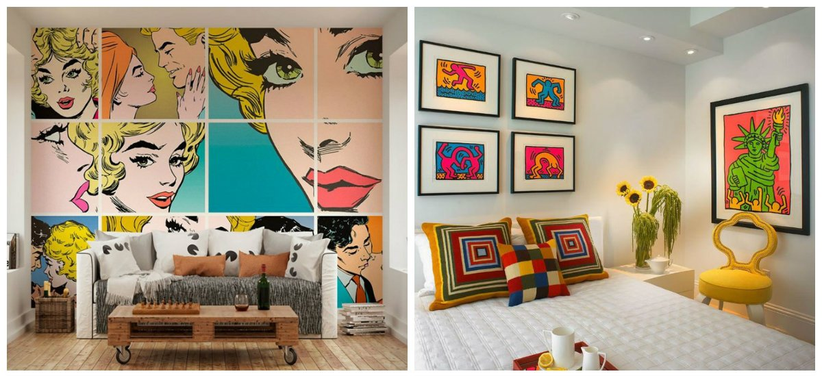 girls bedroom ideas, pop art style girls bedroom design ideas