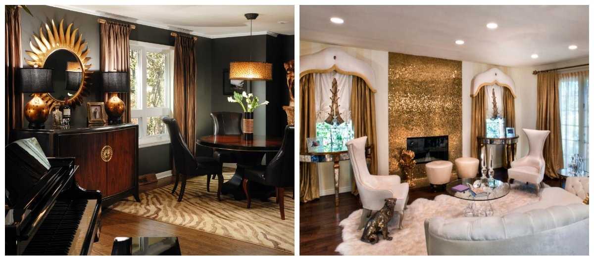 home interior design 2019, golden accents in home interior design 2019