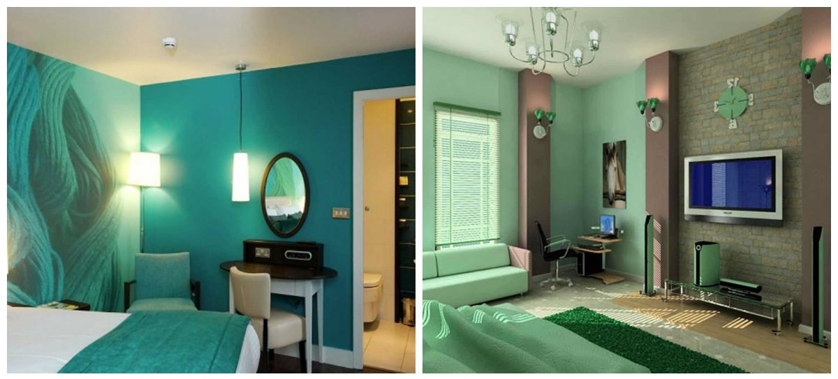 home interior design 2019, mint color, turquoise color in home interior design 2019