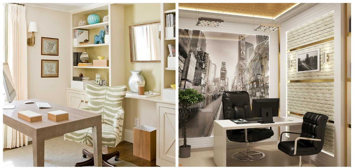 home office design, fashionable furniture in home office design