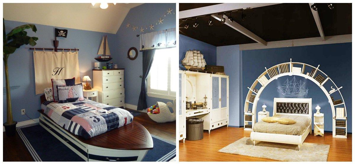 kids room design, stylish marine theme in kids room design