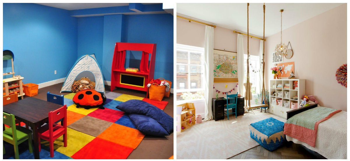 kids room ideas, playing zone in kids room interior design