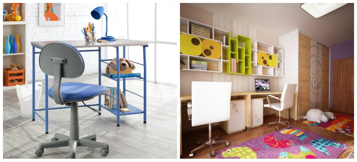 kids room ideas, studying zone in kids room interior design