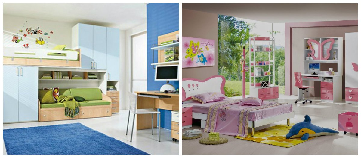 kids room ideas, stylish wall design ideas in kids room interior design