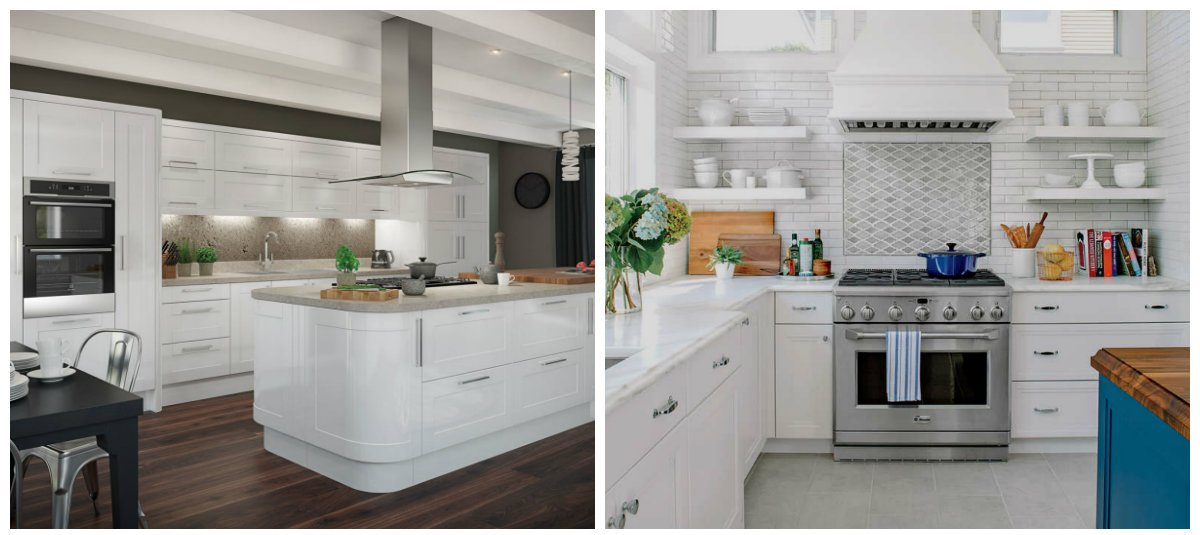 kitchen color trends 2019, white kitchen in kitchen color trends 2019